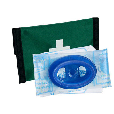 Click Medical Emergency First Aid Resuscitation Face Mask Mouth Piece in Pouch