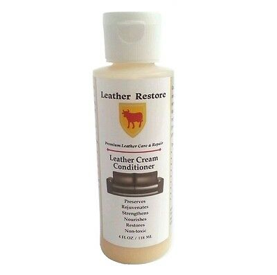 Leather Restore Leather Cream Conditioner Furniture Cars Shoes Boots Couch 4 oz