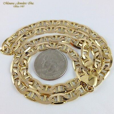 551a40ecf 36.4G 10K Yellow Gold Gucci MARINER Necklace Chain (R18 36) HEAVY BIG 22