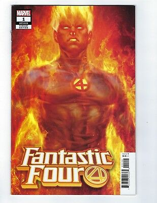 Fantastic Four # 1 Human Torch Artgerm Variant Cover