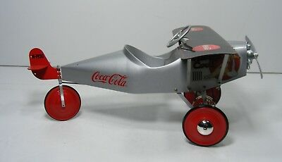 Coca-Cola Cola Pedal Plane Advertising Coke Airplane Die Cast Model Large 14""