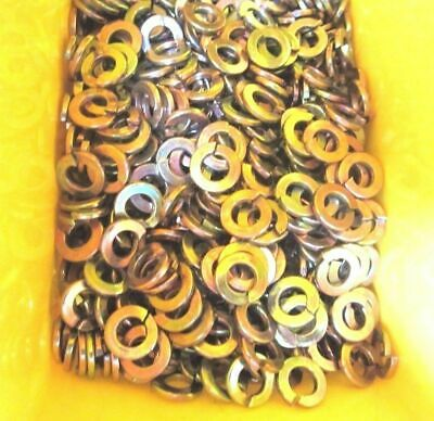 "3/4"" Medium Split Lock Washers Yellow Zinc"