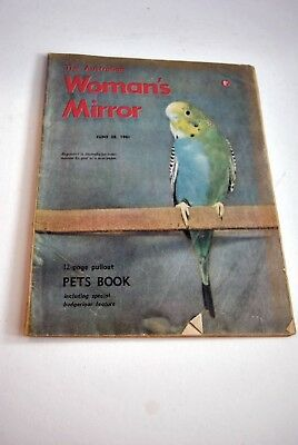 Vintage Issue The Australian's Woman's Mirror 1961 Featuring Budgerigars
