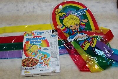 VINTAGE1985 Rainbow Brite CEREAL BOX and KITE promo offer LOT