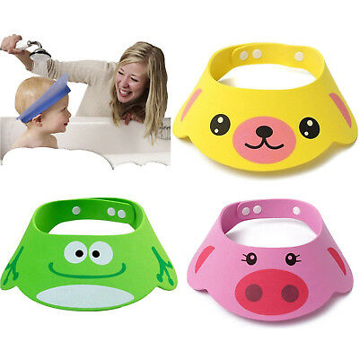 Safe Shampoo Baby Shower Cap Bathing Bath Protect Soft Cap Hat For Baby Kids New