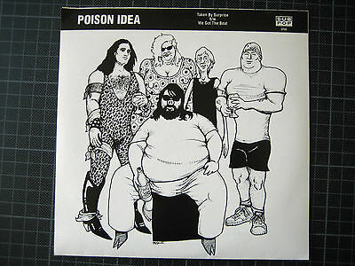 "POISON IDEA - Taken By Surprise - 7"" Single (mint green) - Sub Pop SP86"