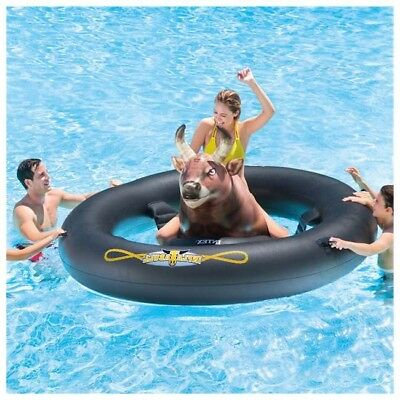 Bull Riding Inflatable Pool Toy Rodeo Adult Fun Cowboy Games Bachelor Party Lake