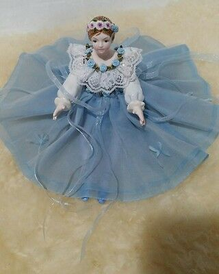 Y. Yamada Porcelain Ballerina Schmid Sankyo Music Box The Blue Danube Sri Lanka
