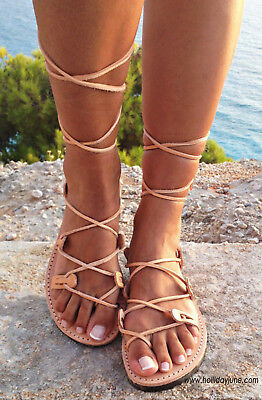 NEW Ancient Greek Grecian Gladiator Sandals Made in Greece USA Sz 6 7 8 9 Shoes