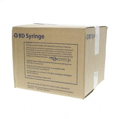 (100) BD LuerLok Syringe 3ml 22g x 1.5in (1 1/2) PrecisionGlide box of 100