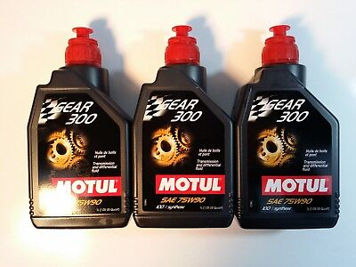 UC093 105777 Motul Gear 300 75W-90 100% Synthetic Ester Based - 3pk. (3 Liters)