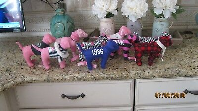 Lot of 9 Victoria's Secret VS PINK Dogs Various Colors and Designs