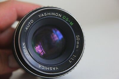 Yashica Yashinon DS-M 50mm 1:1.7 lens for M42 Mount