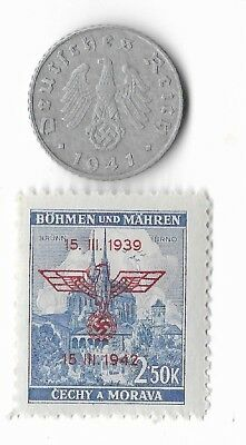 Rare Old German WWII WW2 Germany Eagle Coin Stamp Great War Collection LOT:E11