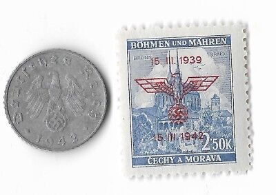 Rare Old German WWII WW2 Germany Eagle Coin Stamp Great War Collection LOT:E12