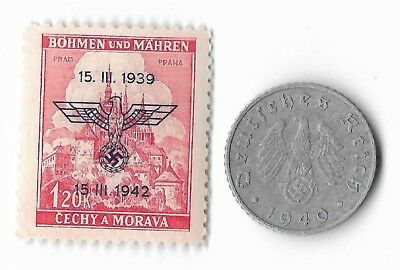 Rare Old German WWII WW2 Germany Eagle Coin Stamp Great War Collection LOT:E14