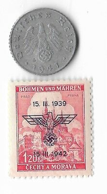 Rare Old German WWII WW2 Germany Eagle Coin Stamp Great War Collection LOT:E15