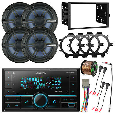 """Digital Media Double DIN Bluetooth Receiver, 6.5"""" Coaxial Speakers, Accessories"""