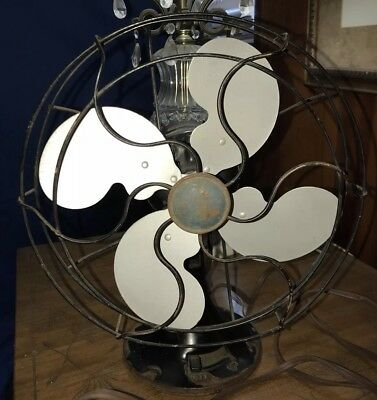 Vintage Emerson Electric Type 2450B Metal Blade Oscillating Fan American Made