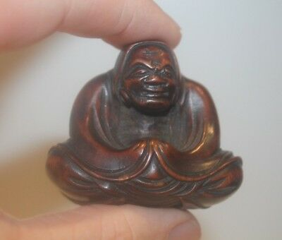 JAPANESE ANTIQUE 18th / 19th CENTURY EDO PERIOD FINE QUALITY BOXWOOD NETSUKE