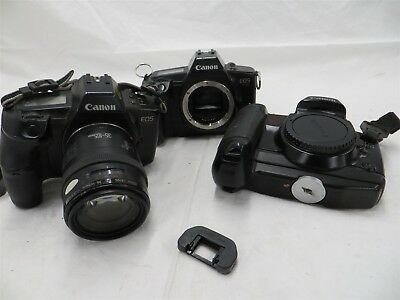 Canon 35mm Film SLR Body Lot of 3 + 1 35mm-105mm Lens FD Mount | Untested