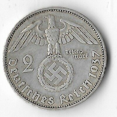 Rare Old Vintage SILVER WWII Germany Great War Eagle WW2 German Coin LOT/US:E36