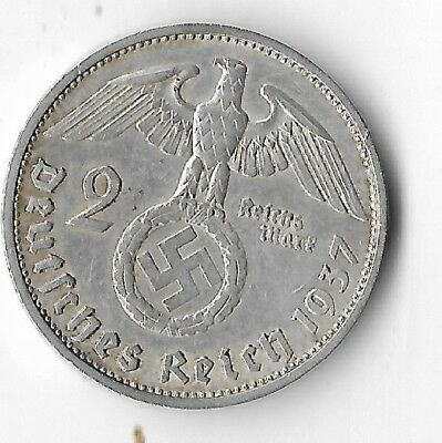 Rare Old Vintage SILVER WWII Germany Great War Eagle WW2 German Coin LOT/US:E40