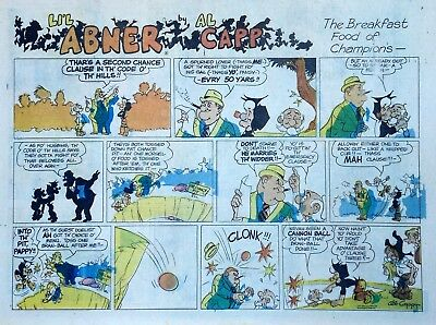 Li'l Abner by Al Capp - large half-page color Sunday comic - September 1, 1974