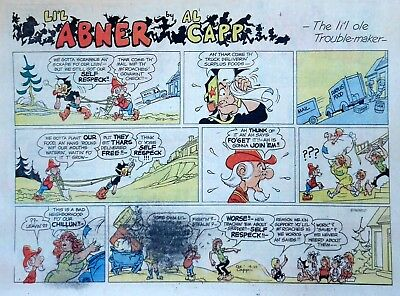 Li'l Abner by Al Capp - large half-page color Sunday comic - September 29, 1974