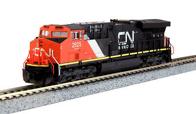 """Kato 17689271 N Canadian National GE ES44AC """"Gevo"""" #2825 with DCC Installed"""