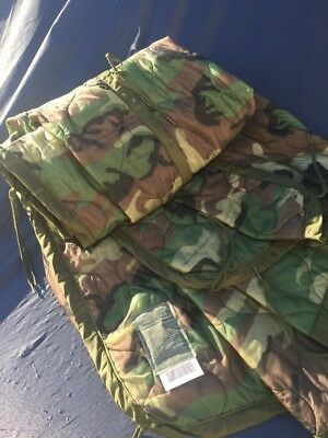 Us Gi Military Poncho Liner  Woodland Camo  Camouflage Wet Weather Brand New