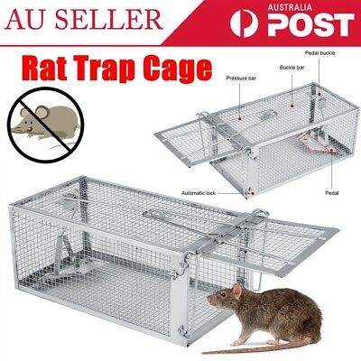 Humane Catch Mouse Rat Trap Cage Small Live Animal Pest Mice Bait Rodent Control