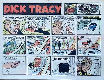 Dick Tracy by Chester Gould - large half-page color Sunday comic, Sept. 29, 1974