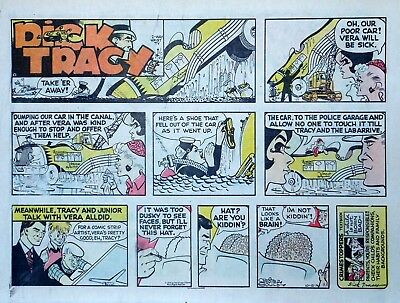 Dick Tracy by Chester Gould - large half-page color Sunday comic - Oct. 13, 1974