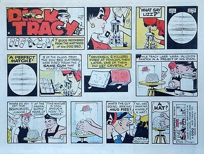 Dick Tracy by Chester Gould - large half-page color Sunday comic - Oct. 20, 1974
