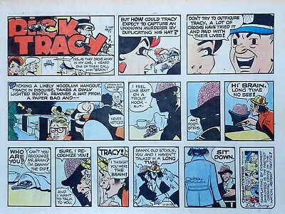 Dick Tracy by Chester Gould - large half-page color Sunday comic - Oct. 27, 1974