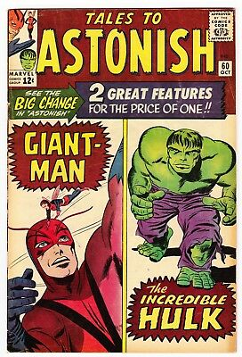 Tales to Astonish #60 (Oct 1964, Marvel) Beautiful Book.