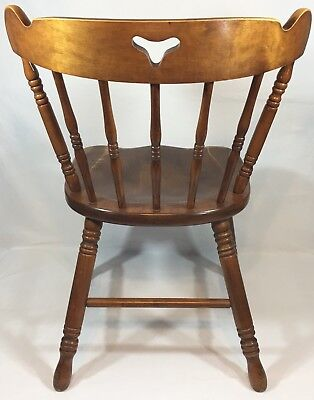 Tell City Co Young Republic Hard Rock 48 Andover Maple Mate's Chair 8018 VTG