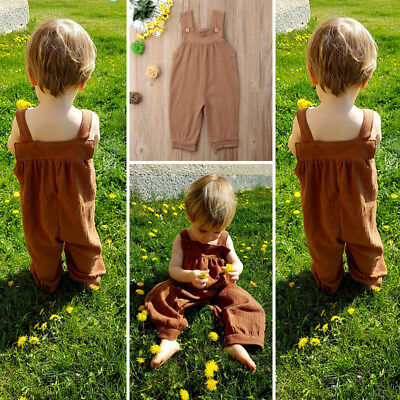 Casual Baby Boy Girl Unisex Clothes Sleeveless Romper Bodysuit Jumpsuit Outfit