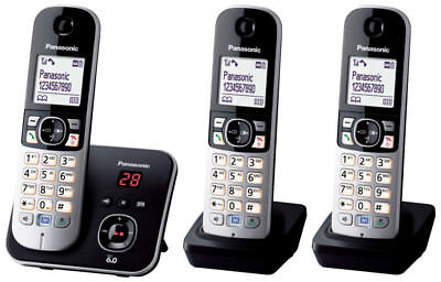PANASONIC TG6823 digital DECT Cordless Phone HOME OR OFFICE ANS/MACHINE 3handset