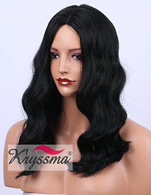 Kryssma Natural Black Short Wigs for women Full Machine Made Middle