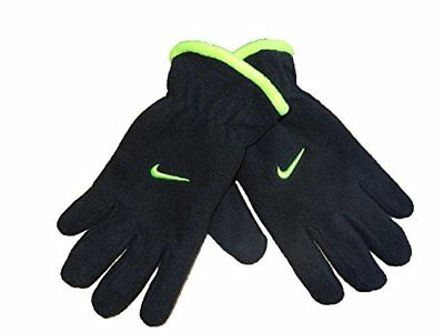 Nike Boy Youth One Size 8-20 Microfleece Gloves Black, Black/Volt