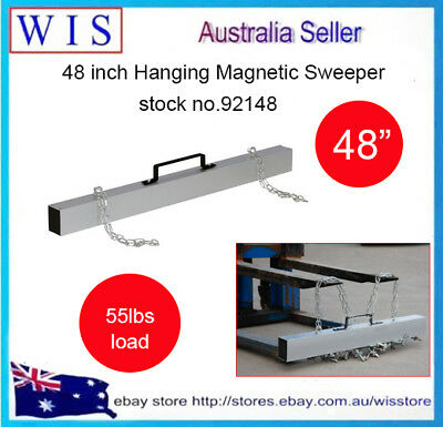 "48"" Hang-Type Magnetic Forklift Sweeper Easy Remove Metal Parts Off Floors-92148"