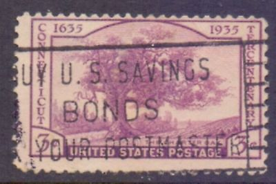 United States  1935  300th Ann. Connecticut, used.