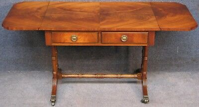 Reprodux Bevan Funnell Regency Style Mahogany 2 Drawer Drop Leaf Coffee Table