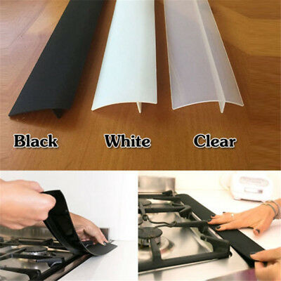 Oven Guard Spill Seal Slit Silicone Filler Kitchen Stove Counter Gap Cover