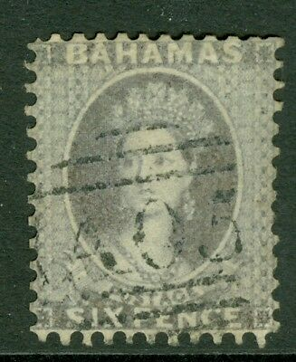 SG 11 Bahamas, 1862. 6d Lavender Grey, Perf 11½-12 no wmk, Very fine used....