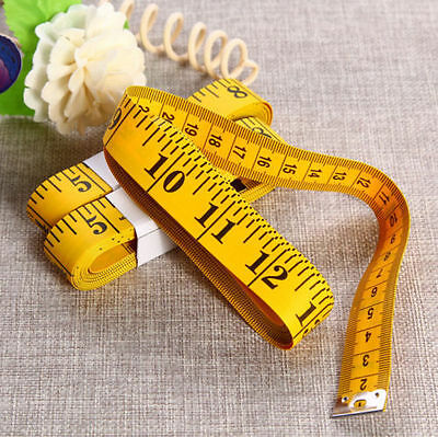 Body Measuring Ruler Sewing Cloth Tailor Tape Measure Soft Flat 3M 120'' UK
