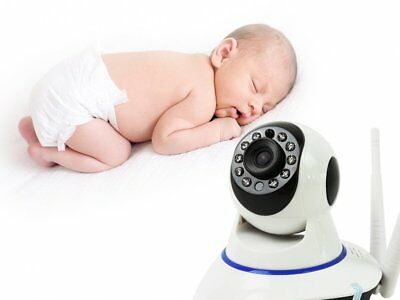 Wireless Baby Monitor Pan + Tilt HD WiFi CCTV Night Vision Home Security Camera~