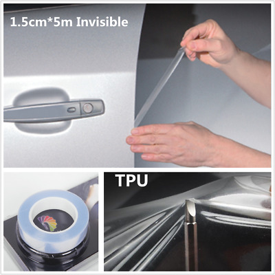 5M Clear Invisible Car Door Sill Edge Paint Scratch Guards Protect Film Stickers